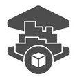3d printing building solid icon 3d house printing vector image vector image