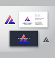 abstract logo and business card template vector image vector image