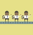 african businessmen mechanical workers vector image vector image
