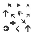arrow icons set vector image vector image