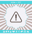 attention icon symbol graphic elements for your vector image vector image