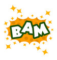 bam icon pop art style vector image vector image