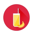 Banana juice icon vector image vector image