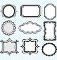Black Label FramesElegant Ornate frames set vector image vector image