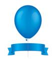 blue balloon and ribbon vector image vector image