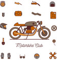 cafe racer retro motorbike vector image vector image