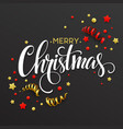 Christmas card with confetti and ribbons vector image