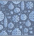 christmas seamless pattern paper craft design vector image vector image