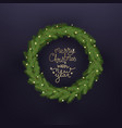 christmas tree wreath winter holiday greeting vector image vector image