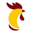 cock head logo flat style vector image vector image