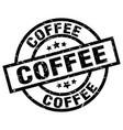 coffee round grunge black stamp vector image vector image