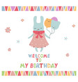 cute little cartoon hare cute little cartoon hare vector image vector image