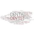 dental word cloud concept vector image vector image