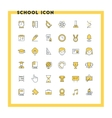 Education and school flat design icon set Student vector image