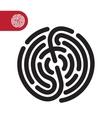 fingerprint logo icon vector image vector image