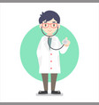 flat design male doctor vector image vector image