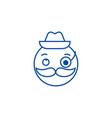 gentlemen emoji line icon concept gentlemen emoji vector image