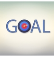 Goal icon vector image