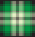 green check plaid seamless fabric texture vector image vector image