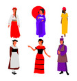 group of women from different nations vector image