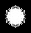 grunge snowflake isolated vector image vector image