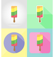 ice cream flat icons 16 vector image vector image