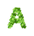 letter a clover ornament vector image vector image