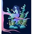 magic mermaid concent vector image vector image