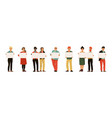 men and women with placards young persons holding vector image vector image