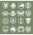 Military logos of special forces vector image vector image