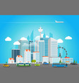 modern city life cityscape with transport vector image vector image