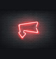 neon entrance red arrow for bar night club vector image