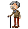 old man with dizzy eyes vector image