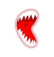 open monster mouth with teeth isolated vector image