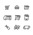 outline shopping icon vector image