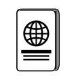 passport travel document vector image