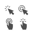 pointer icon hand touch gesture vector image