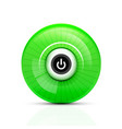 power button icon start symbol web design ui or vector image vector image