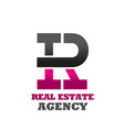 real estate agency letter r icon vector image