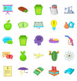 recycling icons set cartoon style vector image vector image
