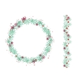 Round Christmas wreath isolated on white vector image vector image