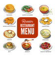 russian cuisine traditional food icons for vector image vector image