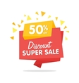 Sale banner isolated origami sticker vector image vector image