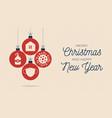 set christmas coronavirus balls card xmas banner vector image vector image