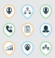 set of 9 management icons includes employee vector image vector image