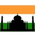 silhouette of taj mahal vector image vector image