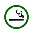 smoking permitted sign vector image