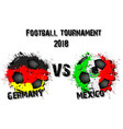 soccer game germany vs mexico vector image vector image