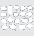speech bubbles comics stroke line vector image vector image