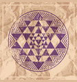 sri yantra symbol on paper vector image